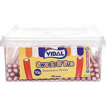 Vidal Pick & Mix Crayons fraise 1,2 kilo 100 pièces 1,2 kilo