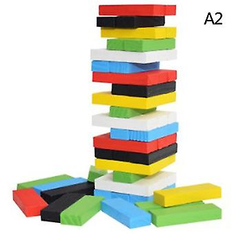 Creative Novel Wooden Digital Jenga Building Block Brain Game Toy