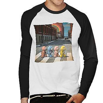 Care Bears Zebra Crossing Men's Baseball Long Sleeved T-Shirt