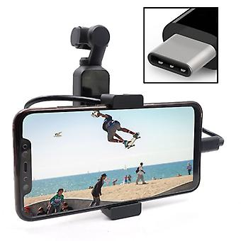 STARTRC Metal Holder Mobile Phone Holder Bracket Expansion Accessories with Type-C Data Cable for DJI OSMO Pocket