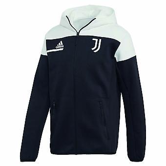 2020-2021 Juventus Anthem Jacket (Svart-Vit)