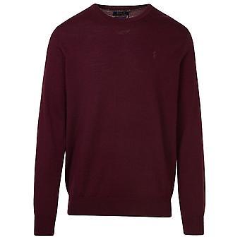 Ralph Lauren 710714346023 Men's Burgundy Wool Sweater