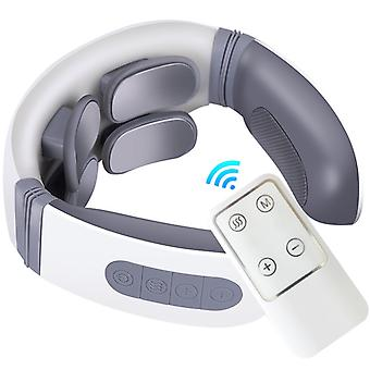 Neck Massager,smart Cordless Neck Massager With 4 Modes And 12 Speeds,with Remote Control,for Home Office