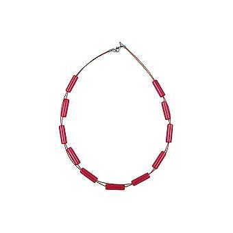 Tubos de collar rojo brillante