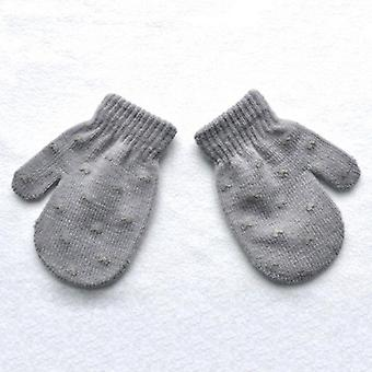 Dot Star Heart Pattern Mittens Gloves Soft Knitting Warm Mittens