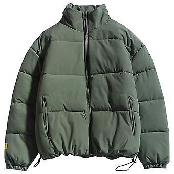 शीतकालीन नए पुरुषों ठोस रंग पार्कास गुणवत्ता ब्रांड स्टैंड कॉलर गर्म मोटी जैकेट