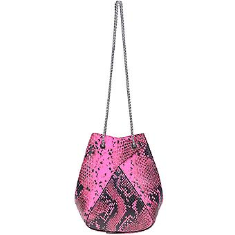 The Volon Ezgl221012 Women's Fuchsia Leather Shoulder Bag