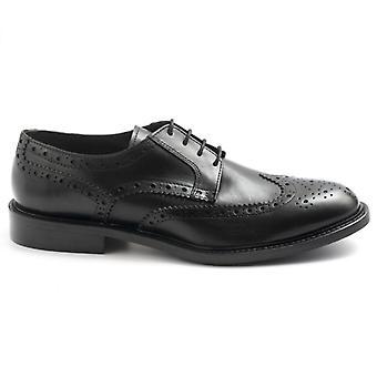 Schwarz Sangiorgio schwarz Leder Derby Schuh