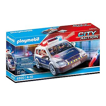 Playmobil city action 6920 police car with light and sound effects for children ages 5+ playmobil