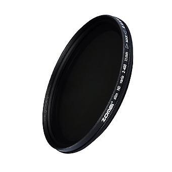 Zomei 77mm ultra tenký nd2-nd400 fader variabilný neutrálny hustota nastaviteľný filter objektívu ultra tenký nd