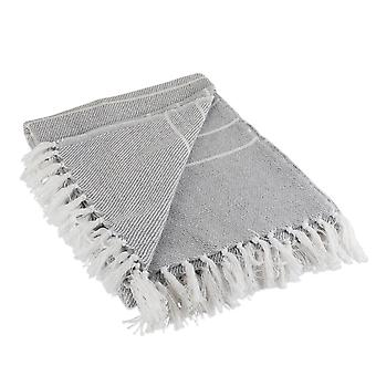 Dii grau / weiß dünnen Streifen werfen Decke