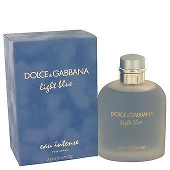 תרסיס לאור כחול או כבד בהיר על ידי דולצ ' ה & גבאנה 6.7 עוז או דה Parfum ספריי