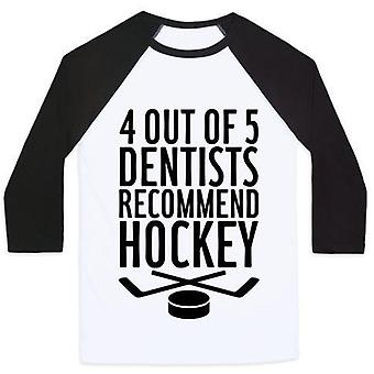 4 Out of 5 dentists recommend hockey unisex classic baseball tee