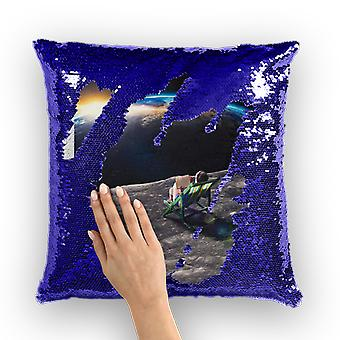 Me time sequin cushion cover