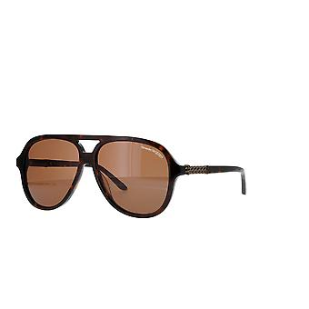Alexander Mcqueen AM0322S 002 Havanna/Ruskeat aurinkolasit