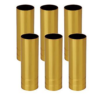 6x Candelabra Base Gold Light Cover for European Pendentif Lamp 8cm H