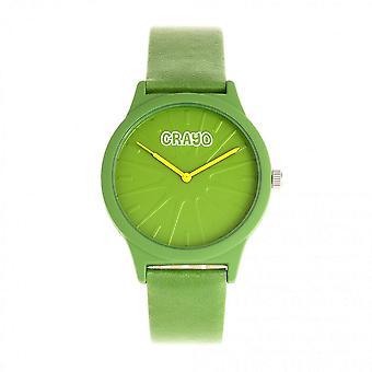 Crayo Splat Quartz Green Dial Watch CRACR5305