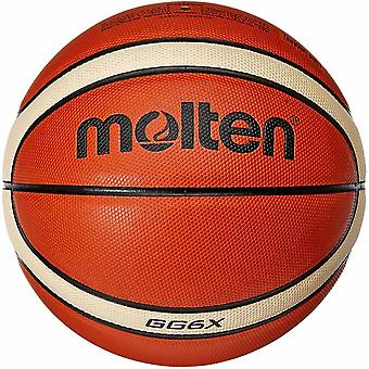 DZK Unisex's Basketball Ball Gr. 6, Orange/Ivory, 6
