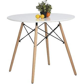 Coavas Esstisch Wei Rund Kchentisch modern Bro Konferenztisch Kaffeetisch, Runder Schreibtisch
