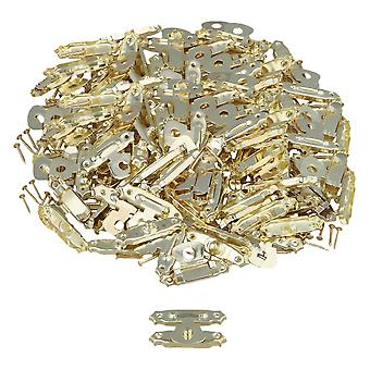 100pcs 27x16mm Golden Antique Mini Wood Box Catch Decorative Latch Hook Hardware
