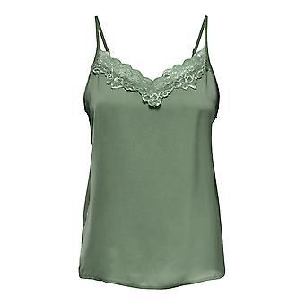 JDY Women Tank Top Lace Shirt Sleeveless Strappy Summer Blouse JDYAPPA avec dentelle
