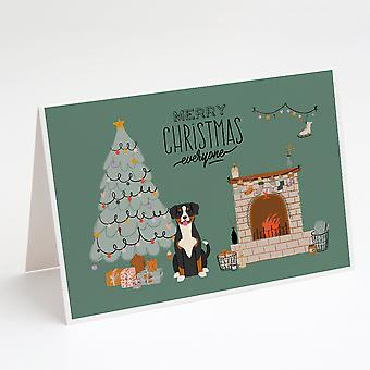 Entlebucher Christmas Kaikki Onnittelukortit ja kirjekuoret Pakkaus 8
