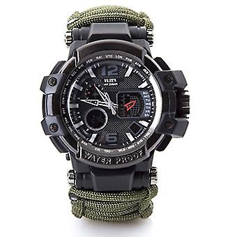 Outdoor Survival Watch, Waterproof, Multifunctional Kit, Military Tactical