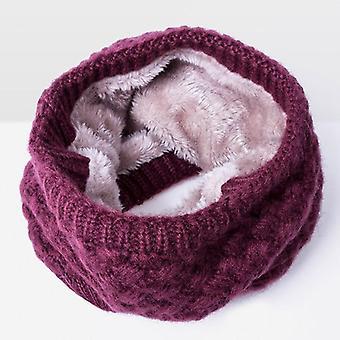 للجنسين الشتاء الدافئ سميكة الصوف طوق الأوشحة