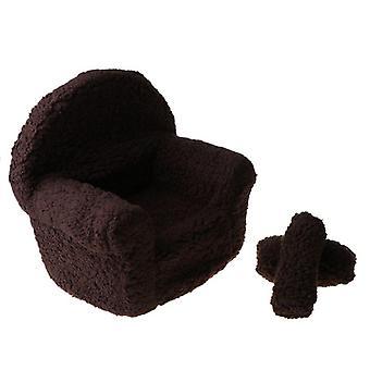 Vauva poseeraa mini sohva nojatuoli tyynyt vauvat, valokuvaus props poser kuva