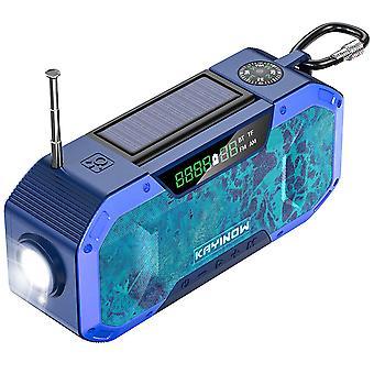 Radio à manivelle solaire, radio d'urgence multifoncière extérieure, haut-parleur bluetooth
