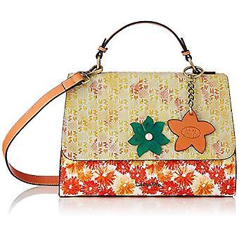 Laura Vita 4231, Pochette with Handle. Woman, Color: Orange, Medium