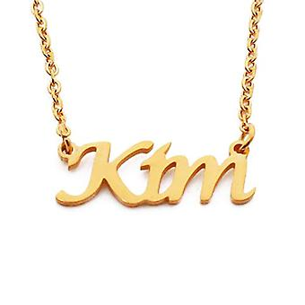 Kigu Kim Custom Name Adjustable Chain Necklace Gold Plated 18 ct - packing