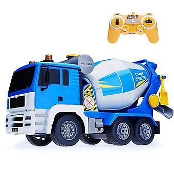 גודל גדול סימולציה גבוהה שלט רחוק לכלוך מלט ערבוב מסתובב RC מסית משאית| משאיות RC (כחול)