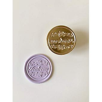 Calligraphy Wedding Wax Seal Stamp With Rose