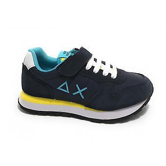 Shoes Baby Sun68 Sneaker Boy's Tom Solid Nylon Blue Navy/ Yellow Zs21su03 Z31301