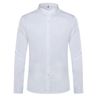 Mile  Men's Stand Collar Slim Fit Long Sleeve Casual Button Down Dress Shirts