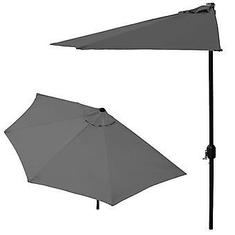 Aurinkovarjopallo – Parvekevarjo 270 cm – Tummanharmaa