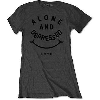 Bring Me The Horizon - Alone & Depressed Women's XX-Large T-Shirt - Grey