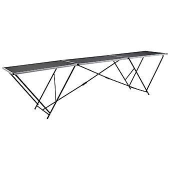 vidaXL Taustakuva pöytä kokoontaitettava MDF ja alumiini 300×60×78 cm