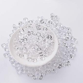 500g klare Deko-Diamanten, Farblos Diamantkristalle, 6mm Kristall Dekosteine, Acryl Diamanten für