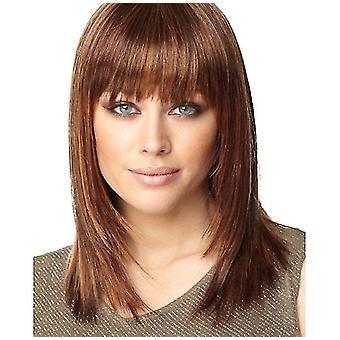 Women Lifelike Straight Short Hair Wig(Brown)