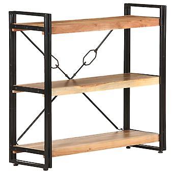 vidaXL bibliothèque 3 compartiments 90x30x80 cm acacia bois massif