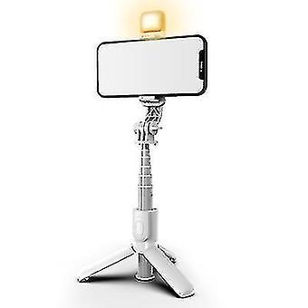 Bærbar mobiltelefon bluetooth fjernkontroll selfie pinne med fyll lys for live