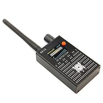 Signaal detector G318 signaal tracker anti spy detector voor radio gemakkelijk gebruik niet easy wear detectie auto draadloze camera's, (zwart)