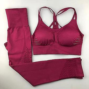 Yoga set women fitness clothing sportswear leggings padded push-up  bra