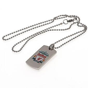 Liverpool FC Colour Crest Hond Tag & Ketting