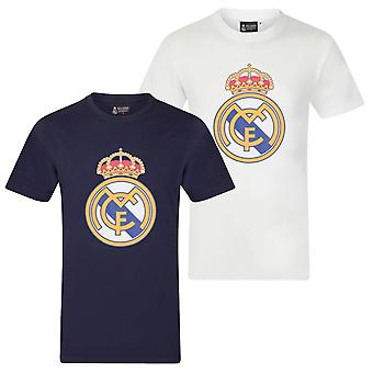 Real Madrid Boys T-Shirt Crest Kids CADEAU DE FOOTBALL OFFICIEL