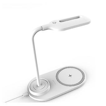 Caricabatterie wireless lampada da tavolo, ricarica illuminazione esterna 2 su 1 (bianco)