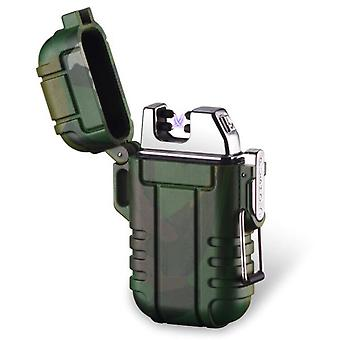 Waterproof Electric Lighter Dual Arc Usb Rechargeable Lighter For Camping Hiking Adventure