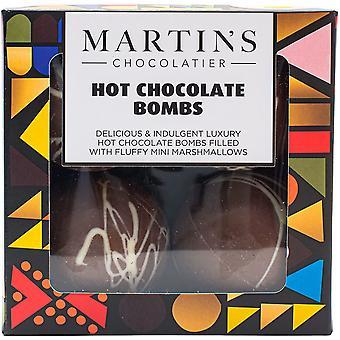 Martin's Chocolatier Hot Chocolate Bombs (3 Boxes 4) | Hot Chocolate Ball with Marshmallows | Chocolate Gift
